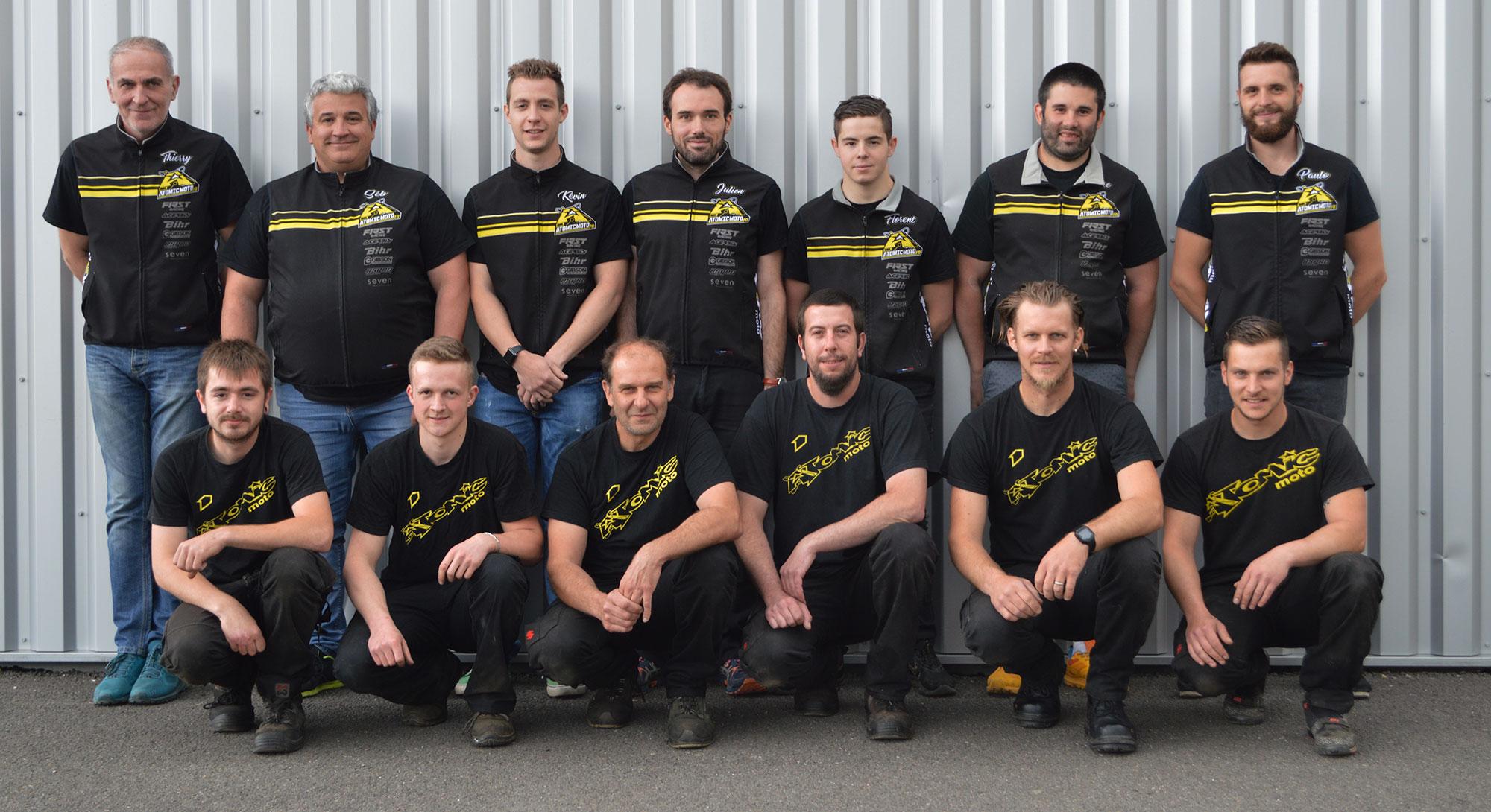L'équipe Atomic Moto